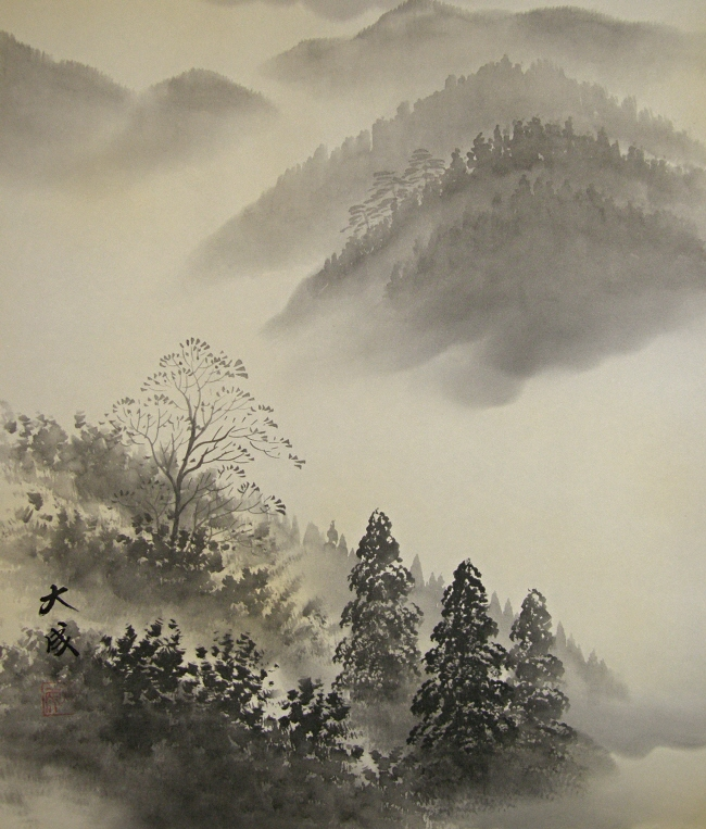 Mountain Stream in the Suiboku painting