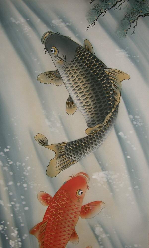 Jumping Carp Fish Couple