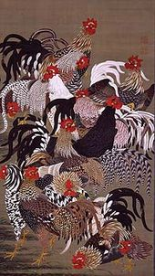 Flock of Chickens in the Doshoku Sai-e