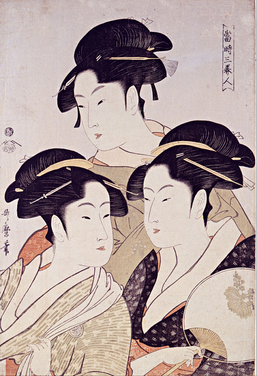 Toji San-Bijin, Three Beauties in the Kansei era
