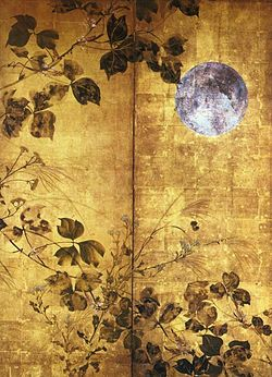 Tsuki ni Akikusa-zu Byobu, The Moon & Autumn Leaves