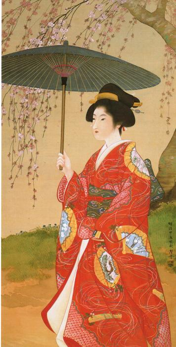Bijin Kanka, Bijin Beauty Seeing Flowers