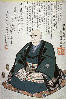 Portrait of Hiroshige, painted by Toyokuni in 1858