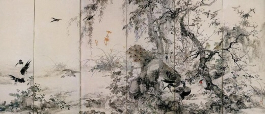 Kacho-zu Byobu, Right-hand Screen of Folding Screen
