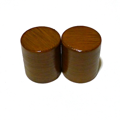 [ Pair of Roller Ends ] Lacquered Brown