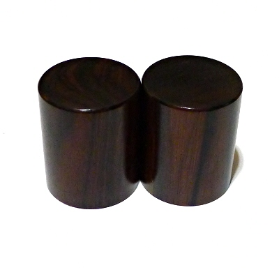 [ Pair of Roller Ends ] made of Ebony Wood
