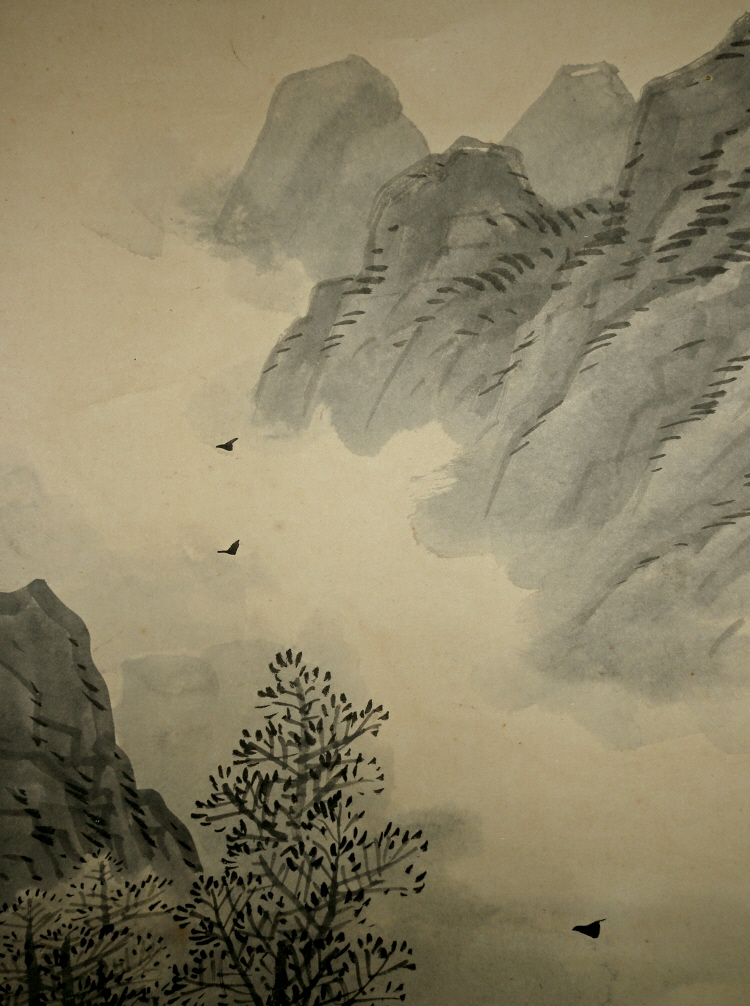 Mountains, Flying Birds