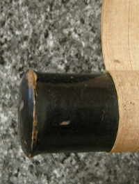 Roller End (Lacquered with Urushi)