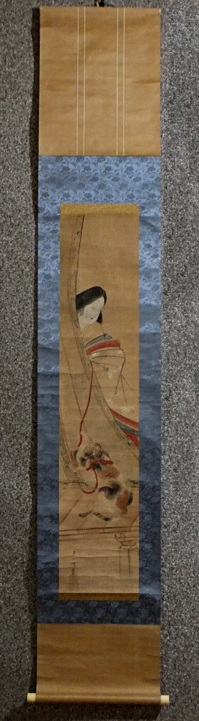 [ Heian Beauty & Cat ] Painted by Hanabusa Iccho
