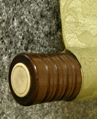 Roller End made of Wood (Ivory Cap)