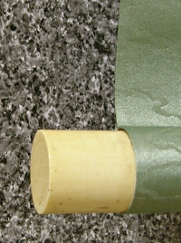 Roller End made from Ivory or Antler