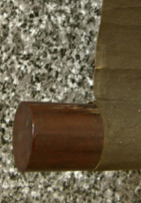 Roller End made of Ebony Wood (Shitan)