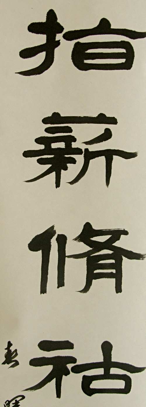 Kanji Drawing by Professional Calligrapher