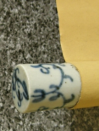Roller End made of Japanese Pottery