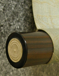 Roller End made of Ebony Wood (Ivory Cap)