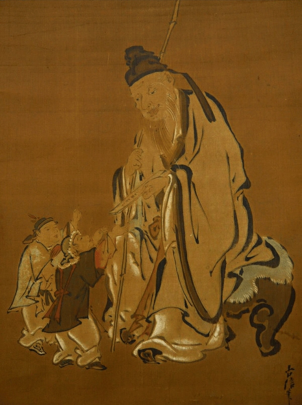 Jurojin God and Children