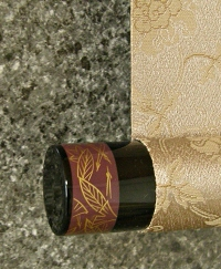 Roller End made from Wood (Urushi Lacquered)