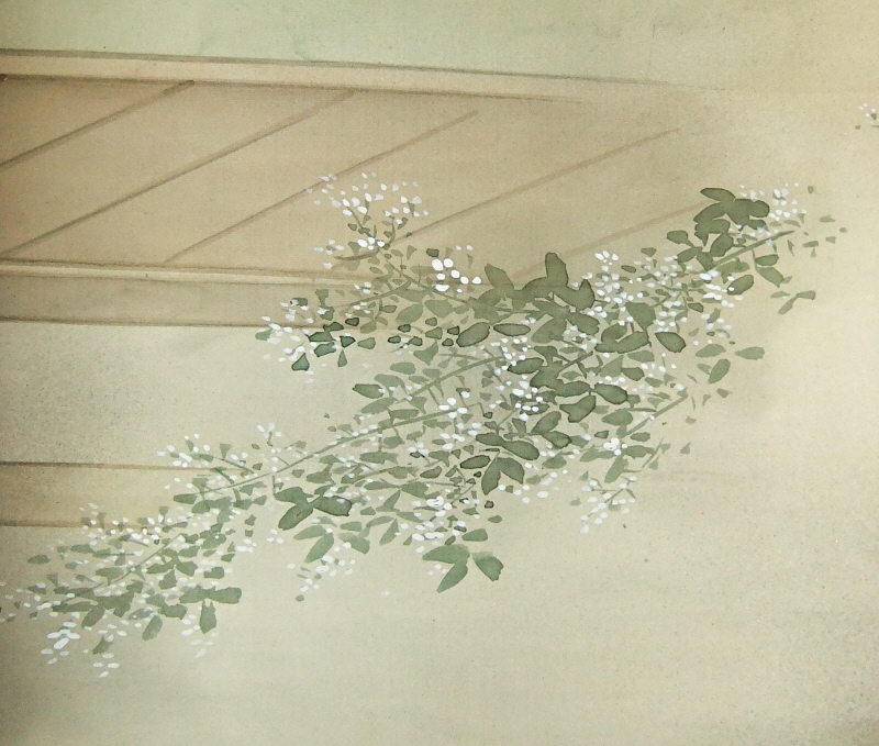 Hagi, Bush Clover Flowers & Leaves