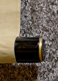 Lacquered Jikusaki Roller End made of Wood