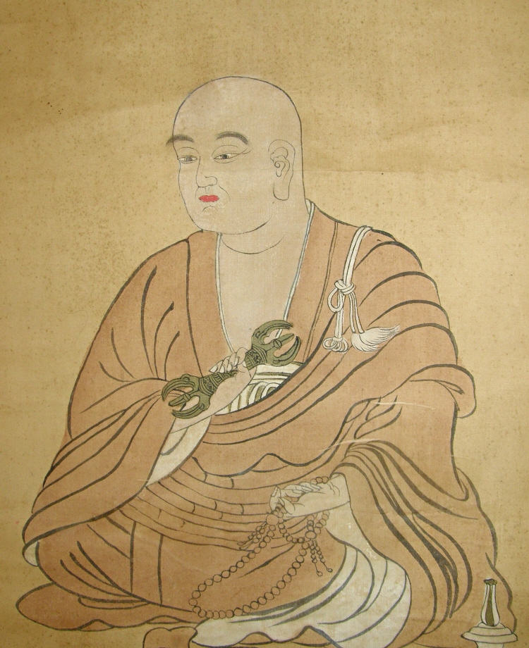 Antique Figuringe of Kukai, Buddhistic Monk